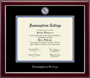 Assumption College Diploma Frame - Masterpiece Medallion Diploma Frame in Gallery Silver