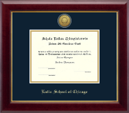 Latin School of Chicago Diploma Frame - Gold Engraved Medallion Diploma Frame in Gallery