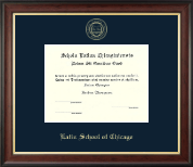 Latin School of Chicago Diploma Frame - Gold Embossed Diploma Frame in Studio Gold