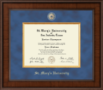 St. Mary's University Diploma Frame - Presidential Masterpiece Diploma Frame in Madison