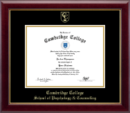 Cambridge College Diploma Frame - Gold Embossed Diploma Frame in Gallery