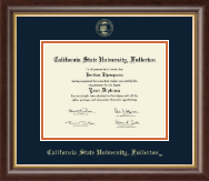 California State University Fullerton Diploma Frame - Gold Embossed Diploma Frame in Hampshire