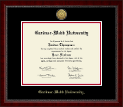 Gardner-Webb University Diploma Frame - Gold Engraved Medallion Diploma Frame in Sutton