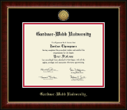 Gardner-Webb University Diploma Frame - Gold Engraved Medallion Diploma Frame in Murano