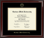 Gardner-Webb University Diploma Frame - Gold Embossed Diploma Frame in Encore