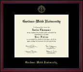 Gardner-Webb University Diploma Frame - Gold Embossed Achievement Edition Diploma Frame in Academy