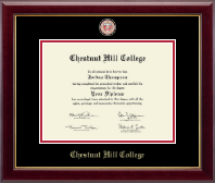 Chestnut Hill College Diploma Frame - Masterpiece Medallion Diploma Frame in Gallery