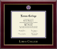 Loras College Diploma Frame - Masterpiece Medallion Diploma Frame in Gallery