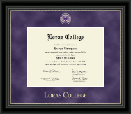 Loras College Diploma Frame - Regal Edition Diploma Frame in Noir