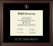 East Coast Polytechnic Institute University Diploma Frame - Silver Embossed Diploma Frame in Studio