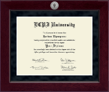 East Coast Polytechnic Institute University Diploma Frame - Millennium Silver Engraved Diploma Frame in Cordova