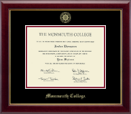 Monmouth College Diploma Frame - Gold Embossed Diploma Frame in Gallery