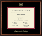 Monmouth College Diploma Frame - Gold Embossed Diploma Frame in Williamsburg
