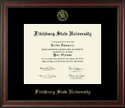 Fitchburg State University Diploma Frame - Gold Embossed Diploma Frame in Studio