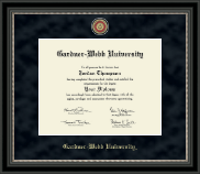 Gardner-Webb University Diploma Frame - Regal Edition Diploma Frame in Noir