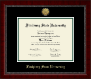 Fitchburg State University Diploma Frame - Gold Engraved Medallion Diploma Frame in Sutton