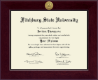 Fitchburg State University Diploma Frame - Century Gold Engraved Diploma Frame in Cordova