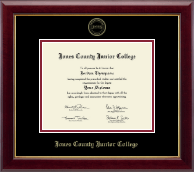 Jones County Junior College Diploma Frame - Gold Embossed Diploma Frame in Gallery