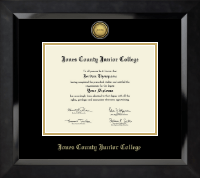 Jones County Junior College Diploma Frame - Gold Engraved Medallion Diploma Frame in Eclipse