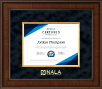 NALA The Paralegal Association Certificate Frame - Presidential Edition Certificate Frame in Madison