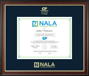 NALA The Paralegal Association Certificate Frame - Gold Embossed Certificate Frame in Studio Gold