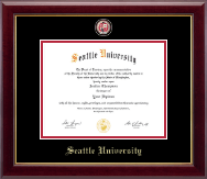 Seattle University Diploma Frame - Masterpiece Medallion Diploma Frame in Gallery