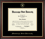 Mississippi State University Diploma Frame - Gold Embossed Diploma Frame in Studio Gold