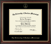The University of Southern Mississippi Diploma Frame - Gold Embossed Diploma Frame in Studio Gold