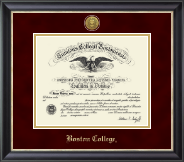 Boston College Diploma Frame - Gold Engraved Medallion Diploma Frame in Noir