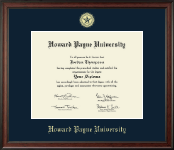 Howard Payne University Diploma Frame - Gold Embossed Diploma Frame in Studio