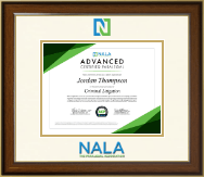 NALA The Paralegal Association Certificate Frame - Dimensions Certificate Frame in Westwood