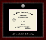 St. Cloud State University Diploma Frame - Silver Engraved Medallion Diploma Frame in Sutton