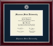 Shawnee State University Diploma Frame - Masterpiece Medallion Diploma Frame in Gallery Silver