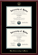 The University of Maine Orono Diploma Frame - Double Diploma Frame in Galleria