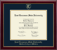 East Tennessee  State University Diploma Frame - Gold Embossed Diploma Frame in Gallery