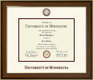 University of Minnesota Twin Cities Diploma Frame - Dimensions Diploma Frame in Westwood
