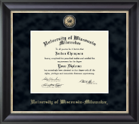 University of Wisconsin-Milwaukee Diploma Frame - Regal Edition Diploma Frame in Noir