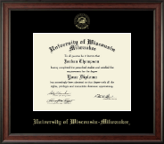 University of Wisconsin-Milwaukee Diploma Frame - Gold Embossed Diploma Frame in Studio