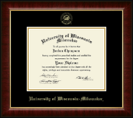 University of Wisconsin-Milwaukee Diploma Frame - Gold Embossed Diploma Frame in Murano