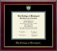 The College at Brockport Diploma Frame - Masterpiece Medallion Diploma Frame in Gallery