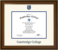 Cambridge College Diploma Frame - Dimensions Diploma Frame in Westwood