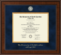University of North Carolina Chapel Hill Diploma Frame - Presidential Masterpiece Diploma Frame in Madison