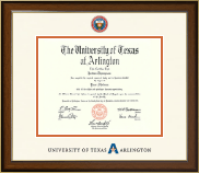 The University of Texas Arlington (UTA) Diploma Frame - Dimensions Diploma Frame in Westwood