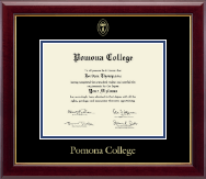 Pomona College Diploma Frame - Gold Embossed Diploma Frame in Gallery