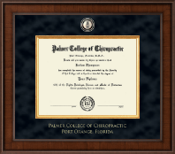 Palmer College of Chiropractic Florida Diploma Frame - Presidential Masterpiece Diploma Frame in Madison