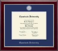 Chaminade University Diploma Frame - Masterpiece Medallion Diploma Frame in Gallery Silver