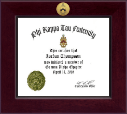Phi Kappa Tau Fraternity Certificate Frame - Century Gold Engraved Certificate Frame in Cordova