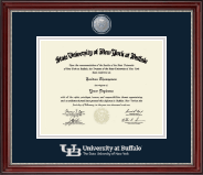 University at Buffalo Diploma Frame - Masterpiece Medallion Diploma Frame in Kensington Silver