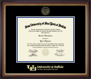 Gold Embossed Diploma Frame in Regency Gold