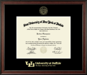 University at Buffalo Diploma Frame - Gold Embossed Diploma Frame in Studio